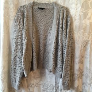 Lane Bryant silver cardigan sweater 14/16